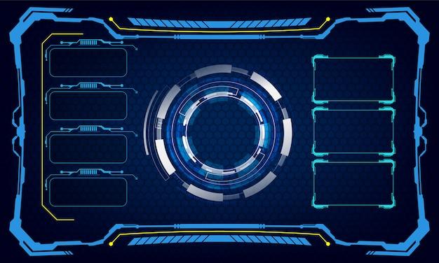 Interfejs interfejsu użytkownika szablon cyber innowacyjne pojęcie tła Premium Wektorów