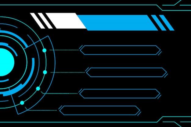 Interfejs niebieski streszczenie technologia przyszłości Premium Wektorów