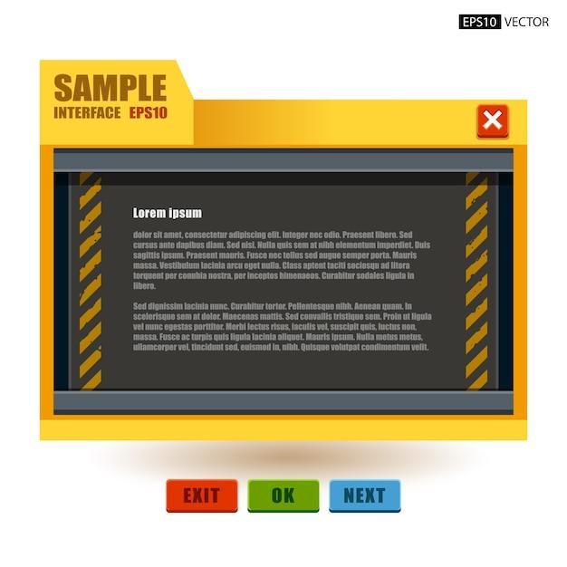 Interfejs użytkownika panelu maszynowego Premium Wektorów