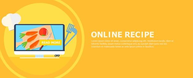 Internetowy Baner Na Przepis Darmowych Wektorów