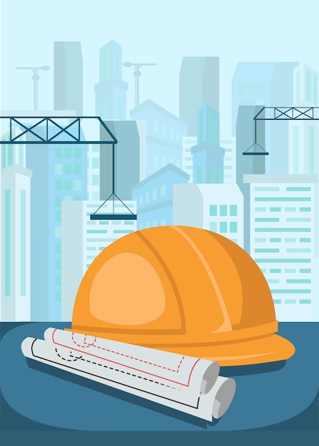 Inżynier budowlany Premium Wektorów
