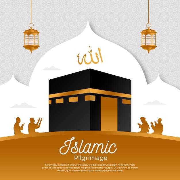 Islamska Impreza Pielgrzymkowa Premium Wektorów