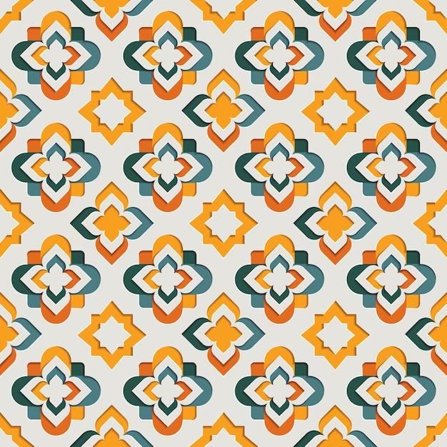 Islamska Orientalna Ozdobna Arabeska Wzór. Tło W Stylu Papieru Z Motywem Wschodu Premium Wektorów