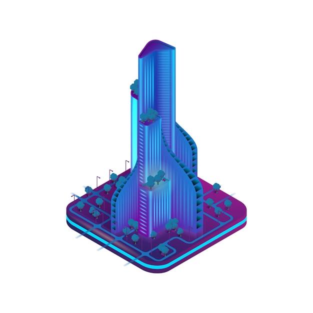 Isometric Image Augmented Reality Dla Architektów Premium Wektorów