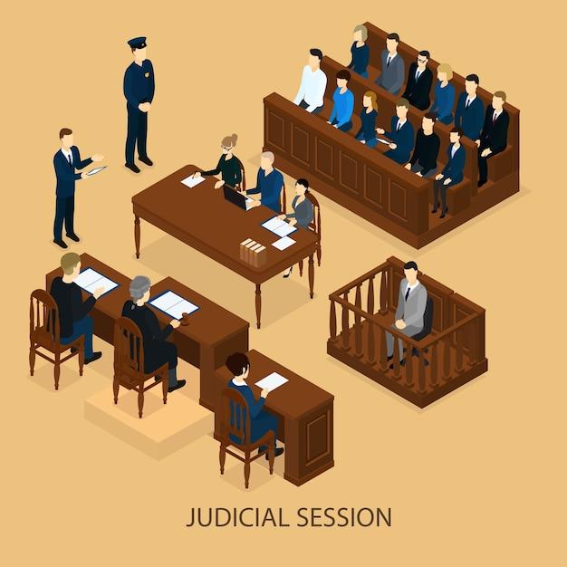Izometryczna Sesja Sądowa Darmowych Wektorów