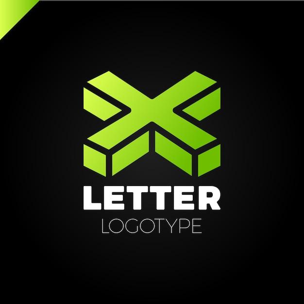 Izometryczne Litery X Logo Ikona Elementy Szablonu Projektu Premium Wektorów