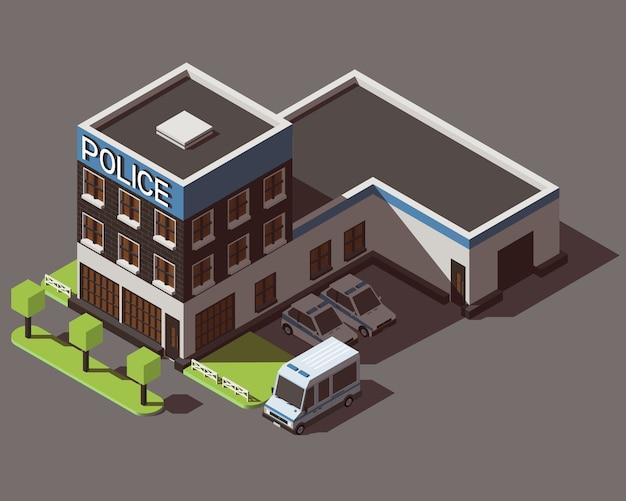 Izometryczny Departament Policji Premium Wektorów
