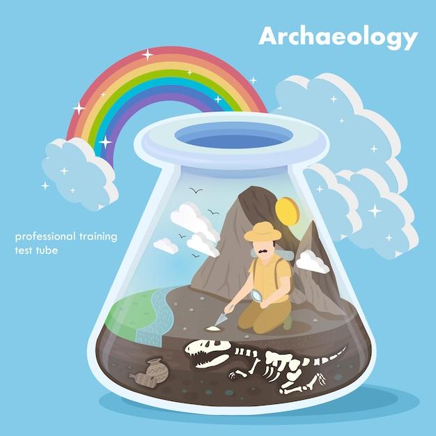 Izometryczny Koncepcji Archeologii Premium Wektorów