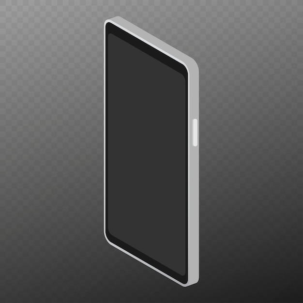 Izometryczny Płaski 3d Na Białym Tle Smartfon. Premium Wektorów