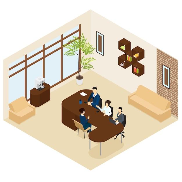 Izometryczny Proces Rekrutacji Biznesowej Darmowych Wektorów