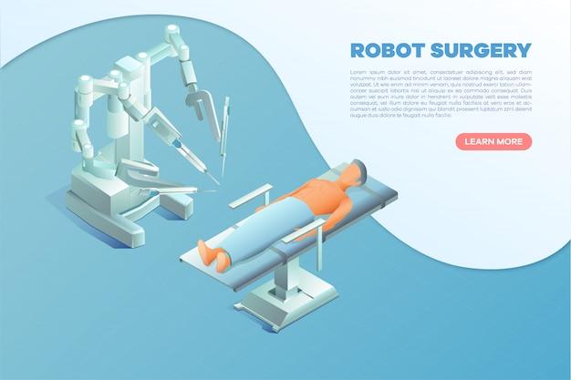 Izometryczny Robot Chirurgia Transparent Premium Wektorów
