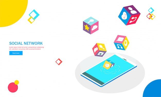 Izometryczny Smartphone. Premium Wektorów