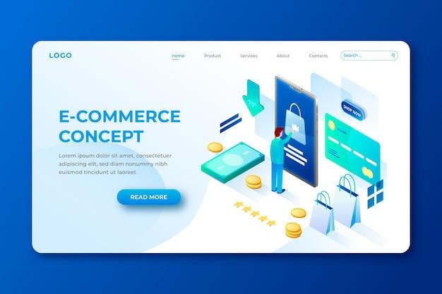 Izometryczny Szablon E-commerce Darmowych Wektorów