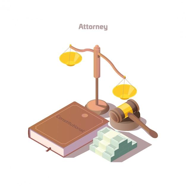 Izometryczny Zestaw Elementów Prawnych Darmowych Wektorów