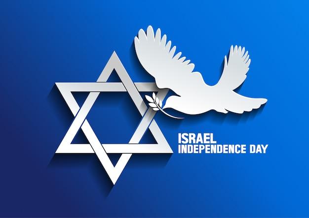 Izraelski Gołąb Pokoju Premium Wektorów