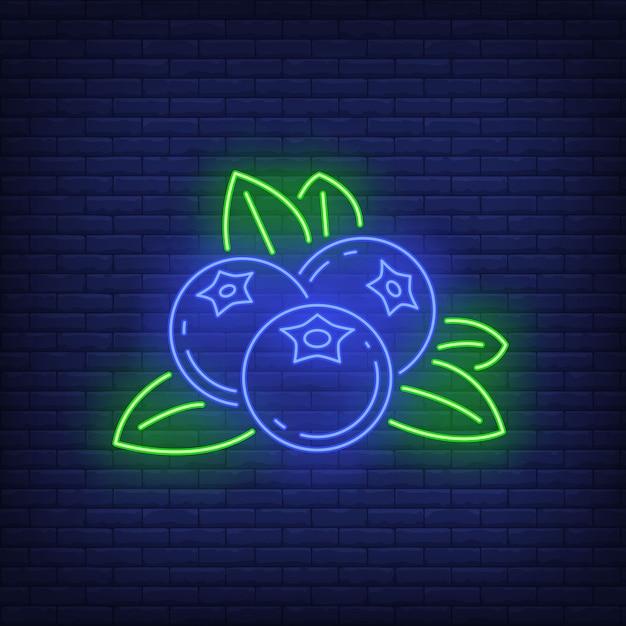 Jagodowy Neonowy Znak. Darmowych Wektorów