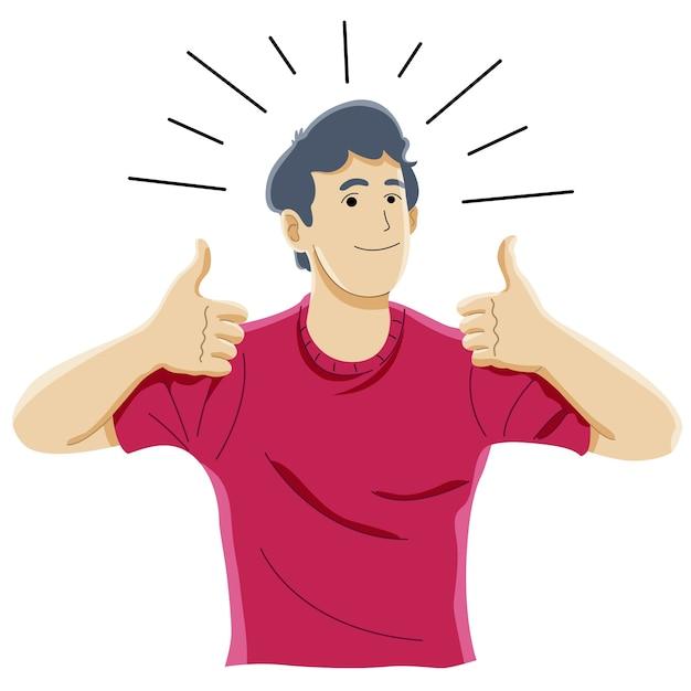 Jak Koncepcja Znak, Sukces, Aprobata, Radość I Szczęście Premium Wektorów