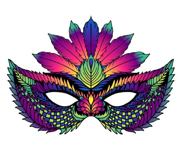Jasna maska karnawałowa. idealny na uroczystości karnawałowe Premium Wektorów