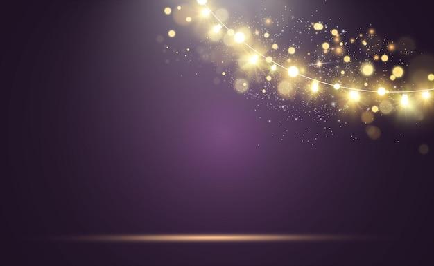 Jasne, Piękne światła Elementy Projektu świecące światła Premium Wektorów
