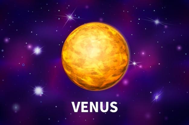 Jasne Realistyczne Planety Wenus Premium Wektorów
