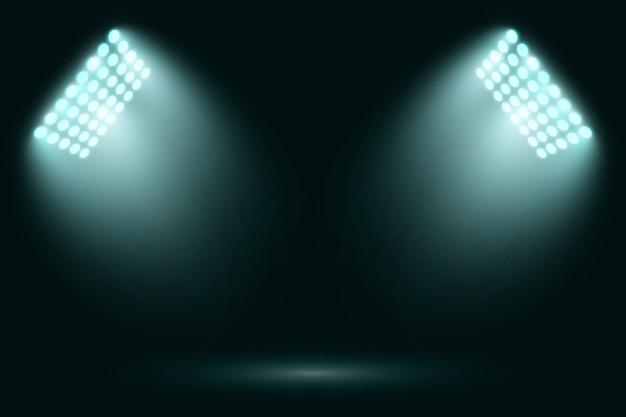 Jasne Realistyczne światła Stadionowe Darmowych Wektorów