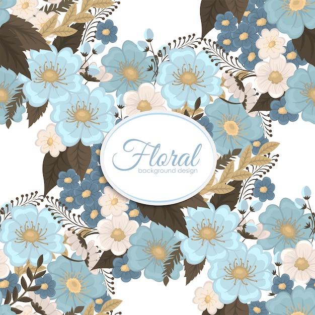 Jasnoniebieski Kwiat Bezszwowe Tło Darmowych Wektorów