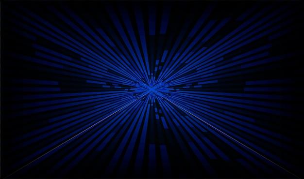 Jasnoniebieski Zoom Streszczenie Tło Premium Wektorów
