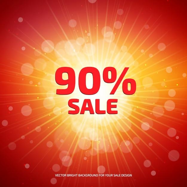 Jasny Czerwony I Pomarańczowy Transparent Sprzedaż Premium Wektorów