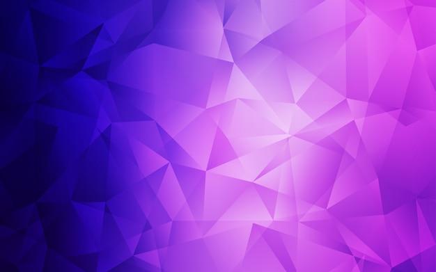 Jasny fioletowy, różowy wektor streszczenie szablon wielokąta. Premium Wektorów