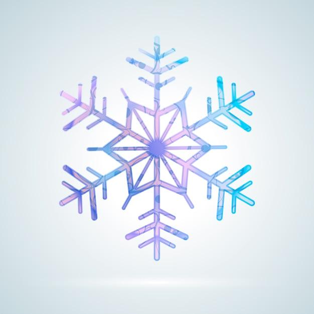 Jasny kolorowy płatek śniegu lodu Premium Wektorów