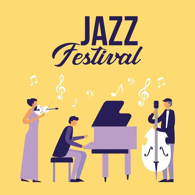 Jazz festiwal ludowy Darmowych Wektorów