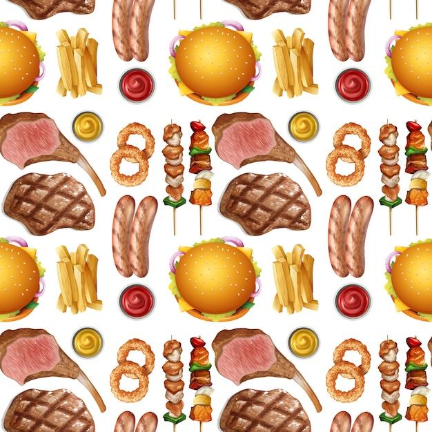 Jednolity Wzór Białka żywności Premium Wektorów