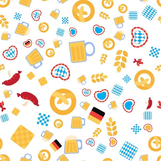 Jednolity Wzór Oktoberfest Premium Wektorów