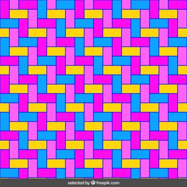 Jednorodna fluor prostokąty mozaika Darmowych Wektorów
