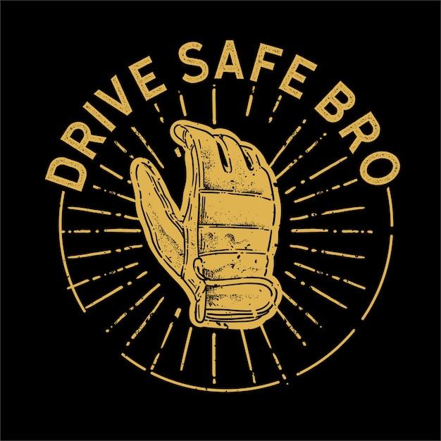 Jedź Bezpieczną Ilustracją Premium Wektorów