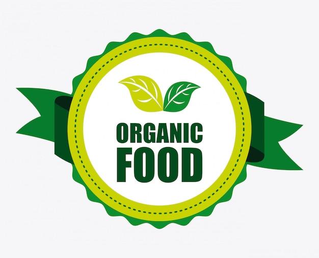 Jedzenie Organiczne Premium Wektorów