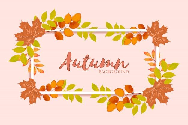 Jesieni w tle Premium Wektorów