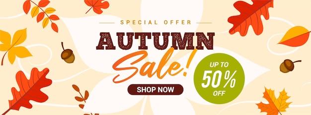 Jesienna Sprzedaż Transparent. Premium Wektorów