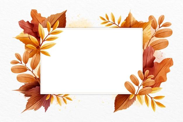 Jesienna Tapeta Z Białą Przestrzenią Darmowych Wektorów