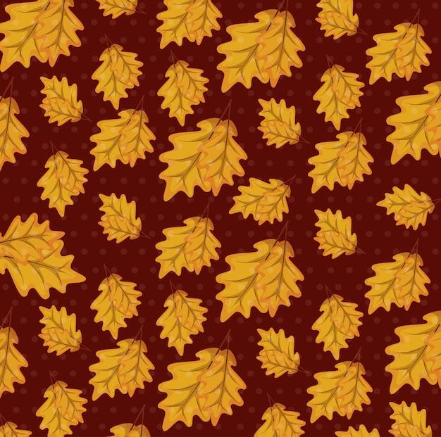 Jesienne liście wzór tła Darmowych Wektorów