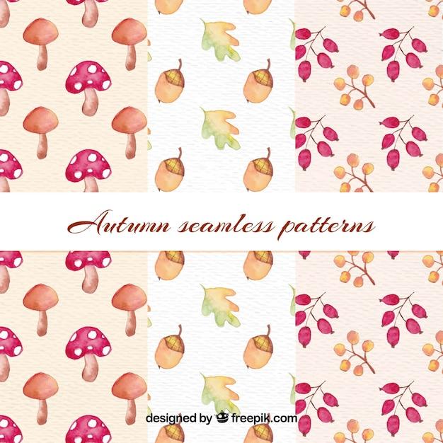 Jesienny wzór wzoru Darmowych Wektorów