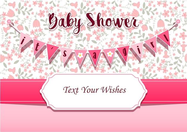 Jest To Szablon Zaproszenia Karty Baby Shower Zaproszenia