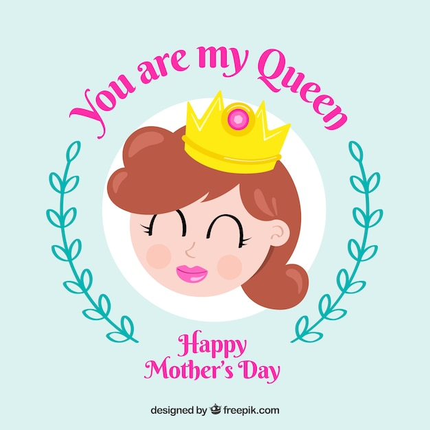 Jesteś Moją Królową Na Dzień Matki Darmowych Wektorów