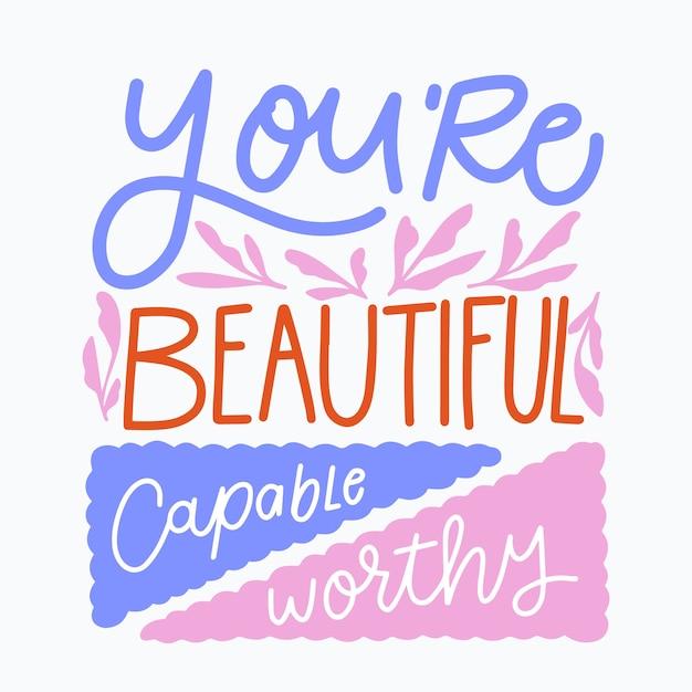 Jesteś Pięknym Napisem Darmowych Wektorów