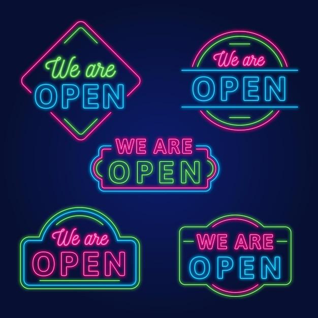 Jesteśmy Otwartą Kolekcją Neonów Darmowych Wektorów
