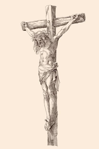 Jezus Chrystus Zbawiciel Premium Wektorów