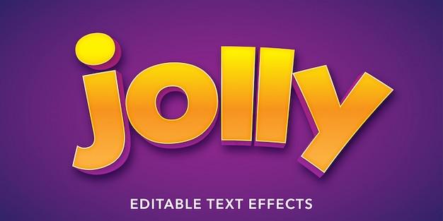 Jolly Text 3d Style Edytowalny Efekt Tekstowy Premium Wektorów
