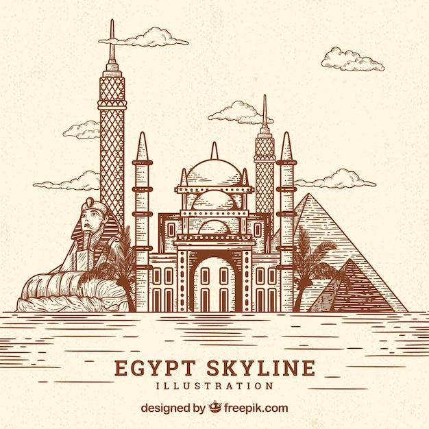 Kair Skyline Tle Darmowych Wektorów