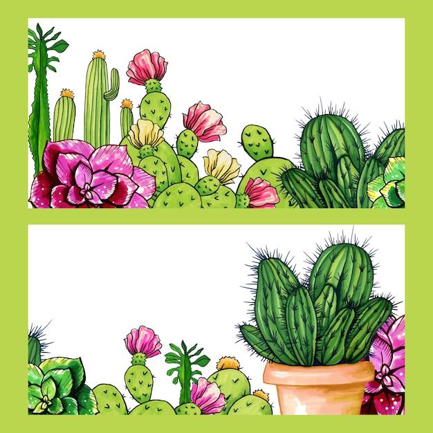 Kaktusy Sklep Banery, Kwiaty Rośliny Doniczkowe Ogród Darmowych Wektorów