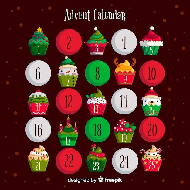 Kalendarz adwentowy Darmowych Wektorów